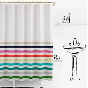 NWT Kate Spade Candy Striped Shower Curtain